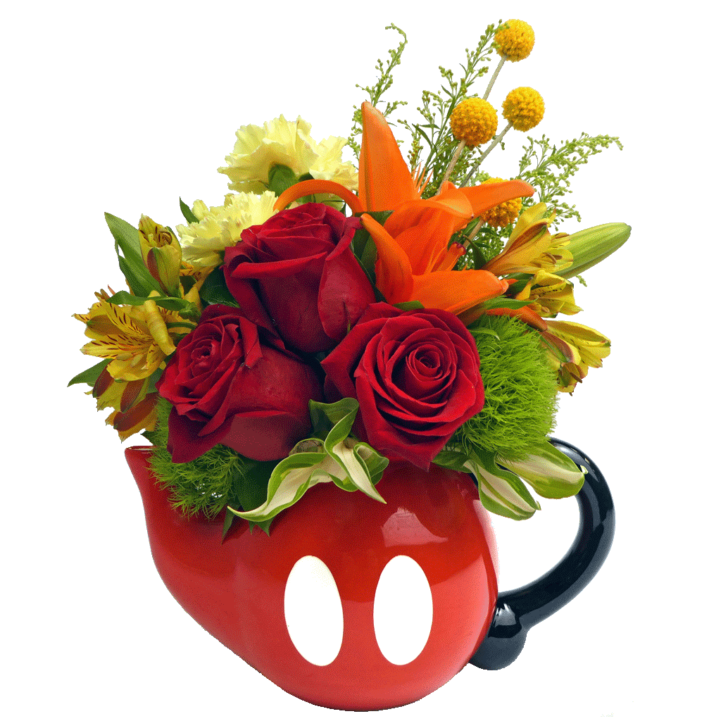 Mickey Mouse Pants Teapot Bouquet