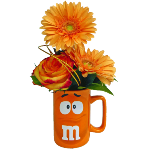 Orange m&m Character Flower Mug