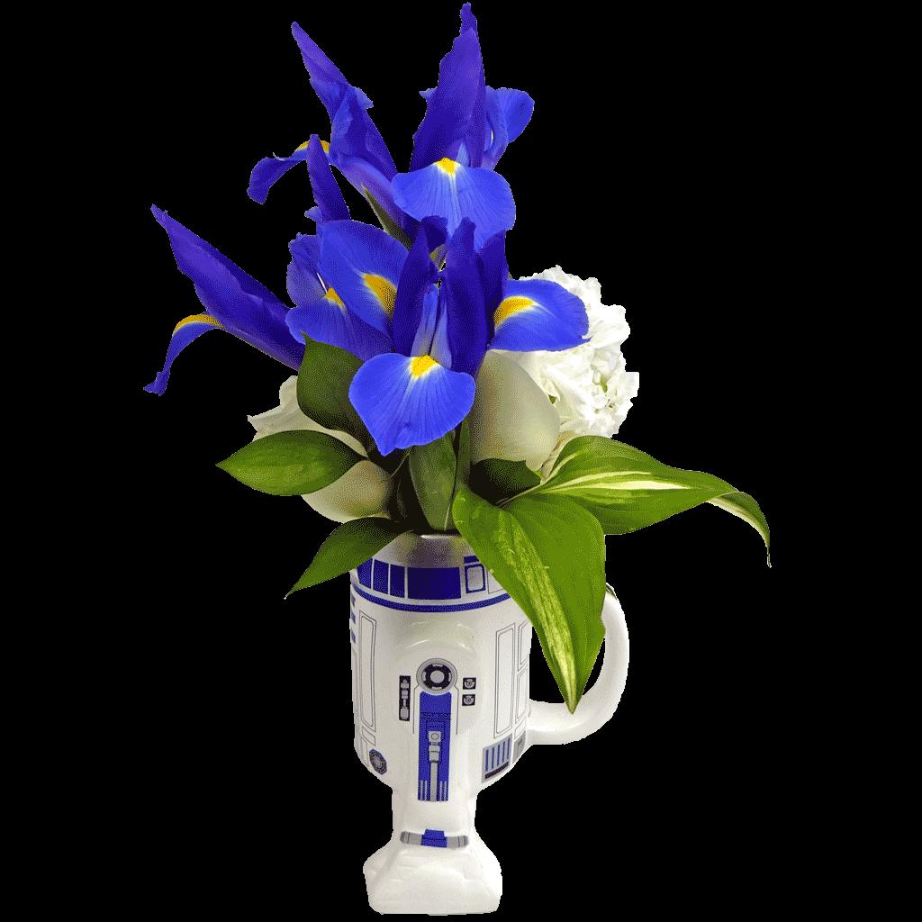 Star Wars R2 D2 Flower Mug Designed By Karin S Florist