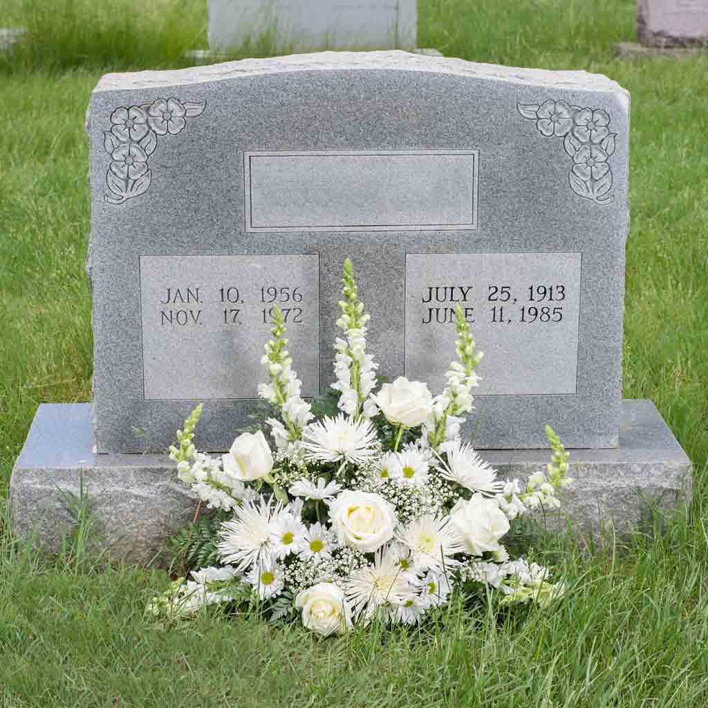 Cemetery flowers and tribute program karins florist official site sincere sentiment bouquet izmirmasajfo
