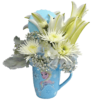 Anna and Elsa Flower Mug with Lid