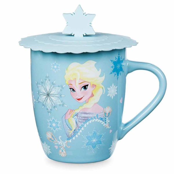 Anna and Elsa Mug with Lid