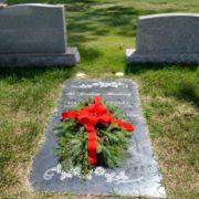 Holiday Grave Blanket