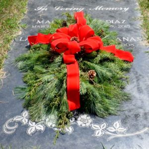 Holiday Grave Blanket
