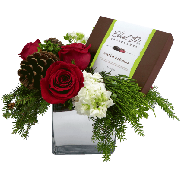 Holiday Tidings Bouquet featuring Ethel M Chocolates