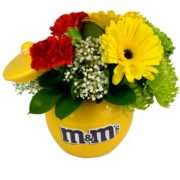 mms Character Ceramic Candy Jar with Flowers