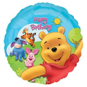 Happy Birthday Pooh Foil Balloon