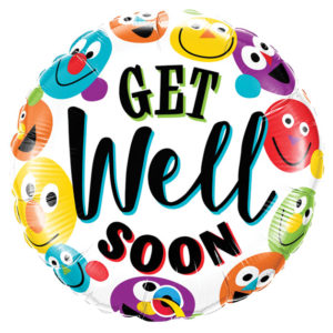 "18"" Get Well Smileys Foil Balloon"