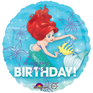 Ariel and Flounder Happy Birthday Foil Balloon