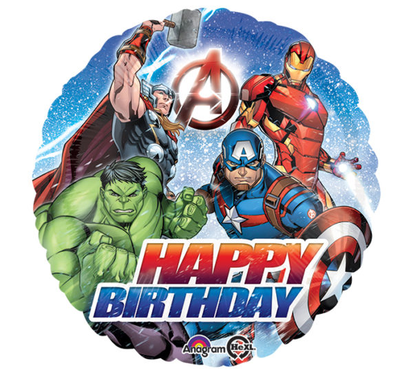 Avengers Happy Birthday Foil Balloon