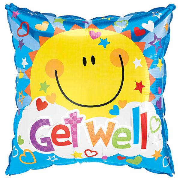 Get Well Sunshine Foil Balloon