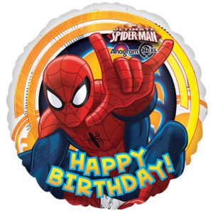 Happy Birthday Spider-man Foil Balloon