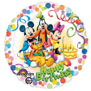 "17"" Happy Birthday Mickey and Friends Foil Balloon"