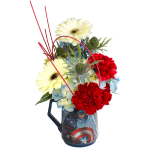 Captain America Flower Mug