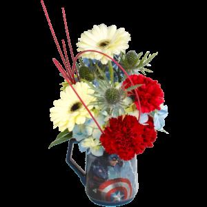Captain America Flower Mug