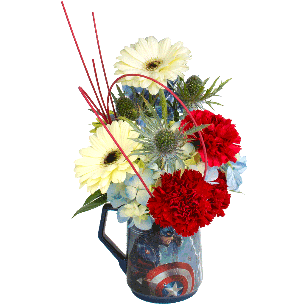 Captain America With Iron Man Flower Mug