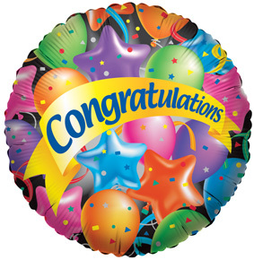 Congratulations Festive Foil Balloon