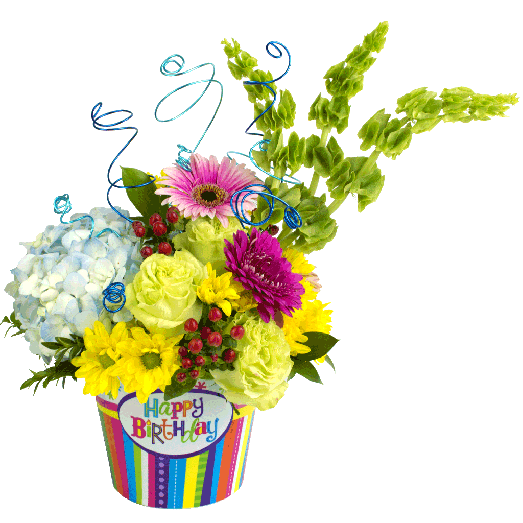 Happy birthday celebration bouquet designed by karins florist happy birthday celebration bouquet izmirmasajfo
