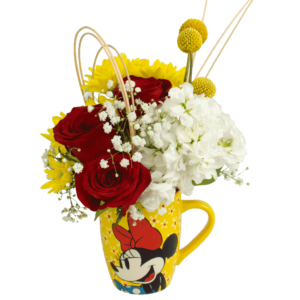 Minnie Mouse Flower Mug with Lid