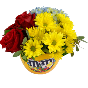 m&m Candy Dish Bouquet