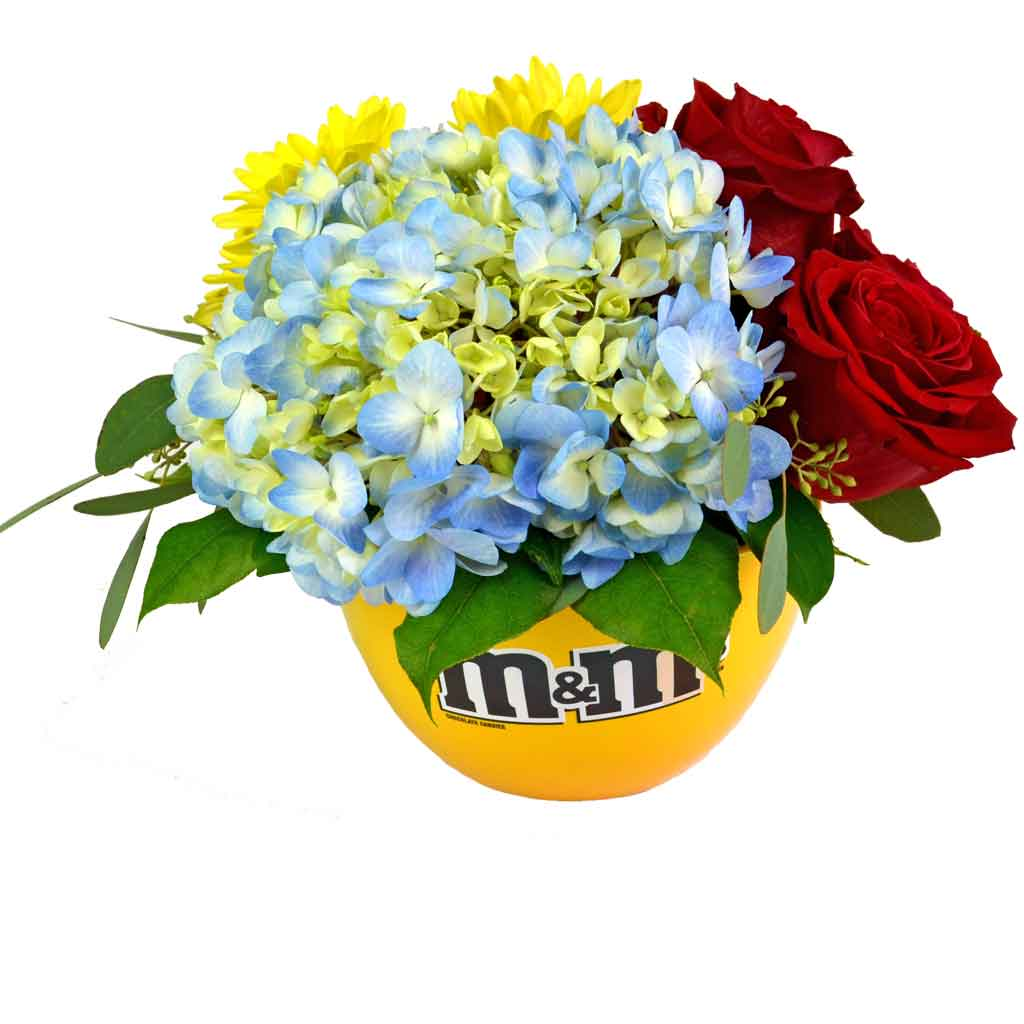 Mm candy dish bouquet designed by karins florist mm candy dish bouquet mms izmirmasajfo