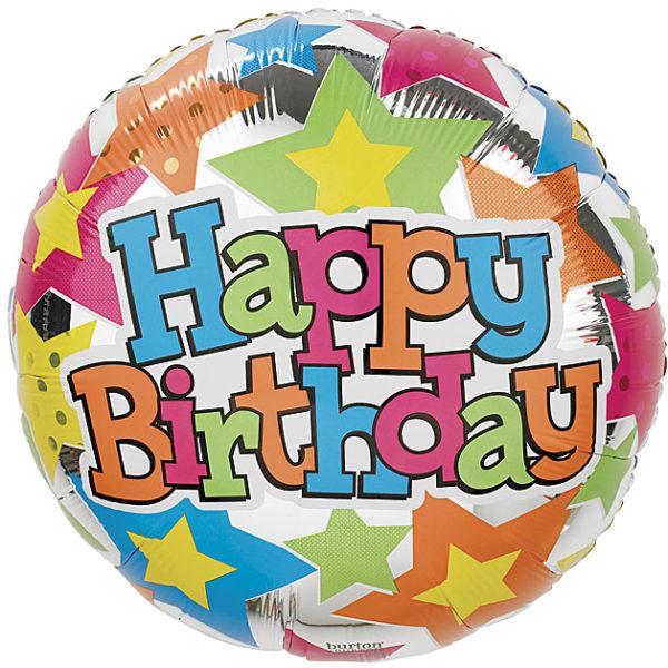 Happy Birthday Crazy Foil Balloon