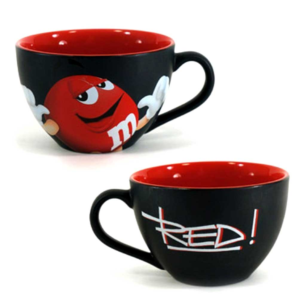 red m m character cappuccino flower mug designed by karin s florist