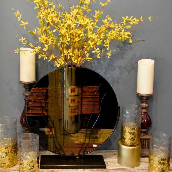 Abstract Round Vase