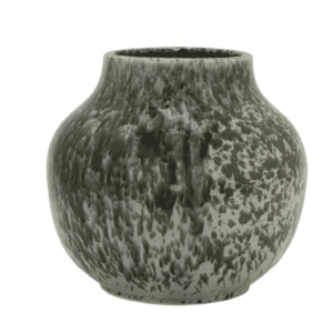 Decorative Black and Grey Ceramic Vase