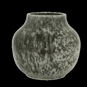 Decorative Black and Grey Ceramic Vase
