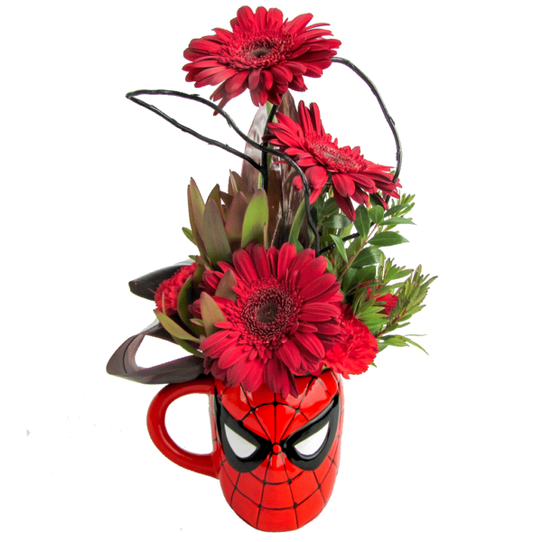 Spider-Man Flower Mug