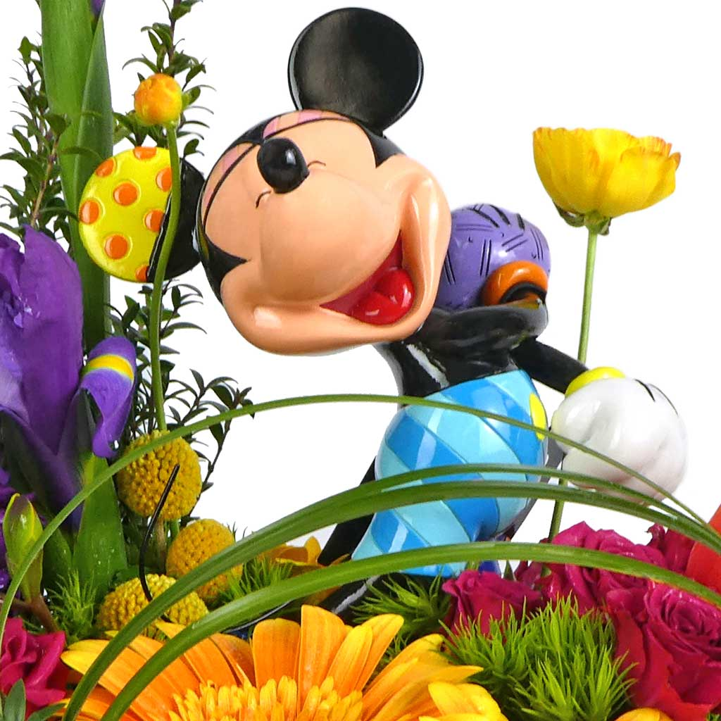 Fabulous Laughing Mickey Mouse Bouquet by Karin's Florist for Romero Britto PT03