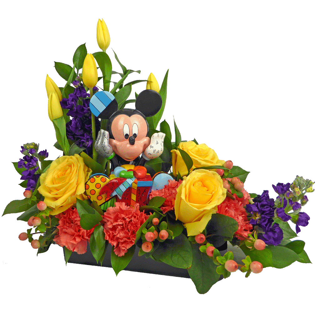 Mickey Birthday Wishes Bouquet Designed By Karins Florist