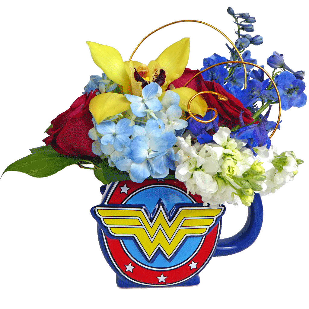 Wonder Woman Flower Mug
