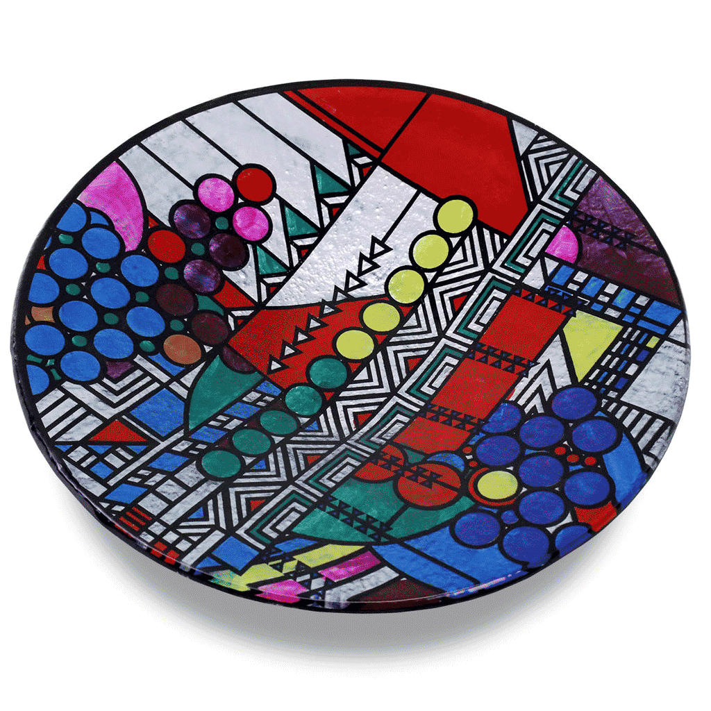 Round Art Glass Plate