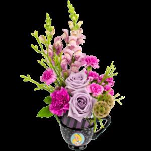 Alice in Wonderland Purple Bouquet