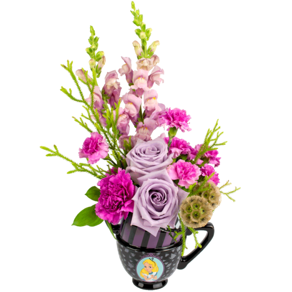 Alice in Wonderland Purple Bouquet