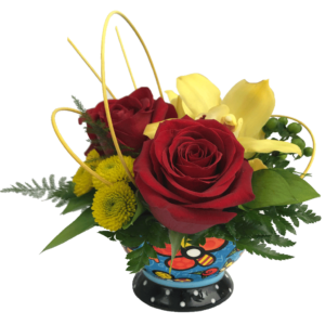 Britto Bowl Bouquet