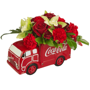 Coke Truck Cookie Jar Bouquet