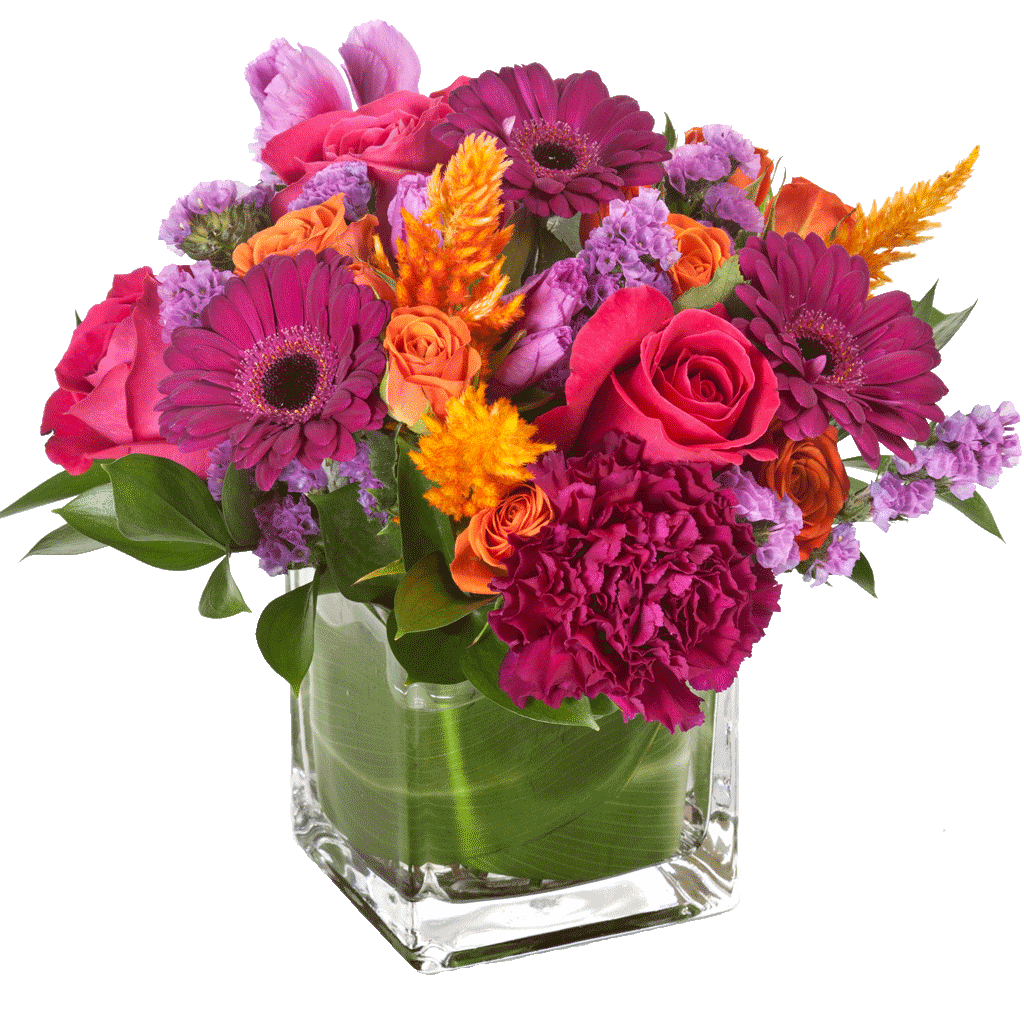 Magenta Sunset Bouquet designed by Karin's Florist - Same day delivery