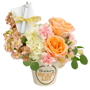Pastel Birthday Bucket List Bouquet