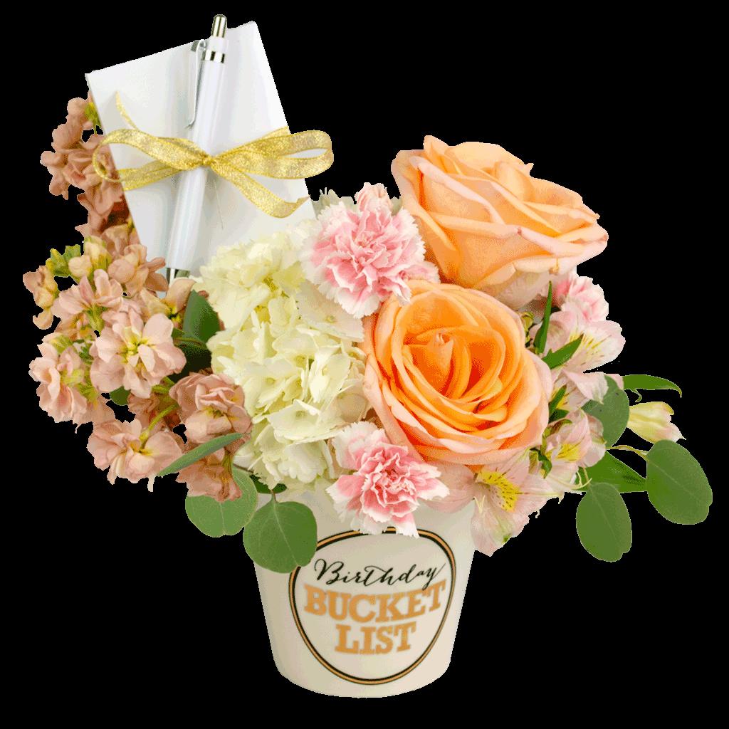 Pastel Birthday Bucket List Bouquet