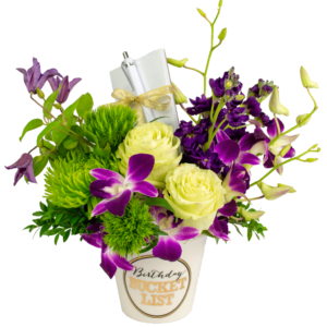 Purple Birthday Bucket List Bouquet