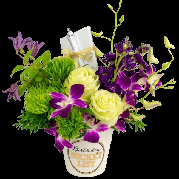 Purple Birthday Bucket List Bouquet