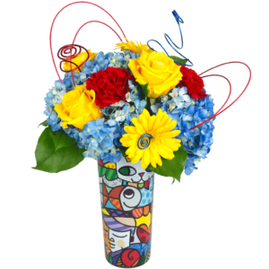 Britto Burst of Color Bouquet