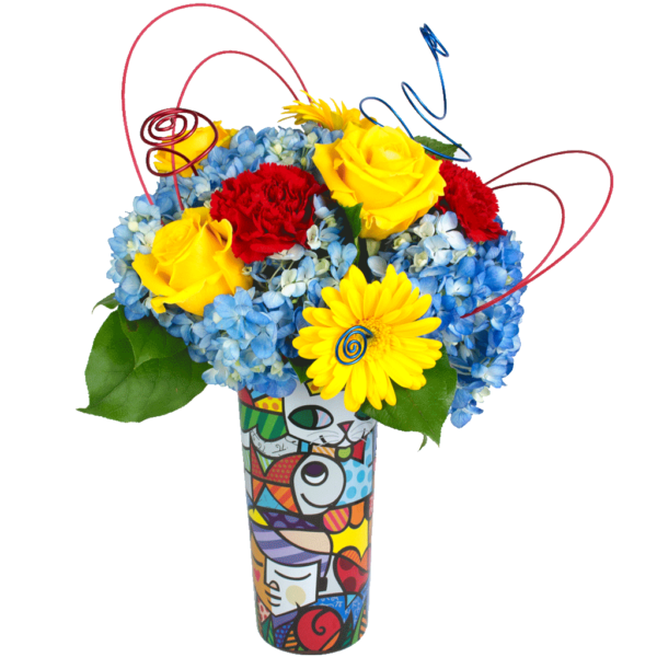 Britto Burst of Color Bouquet