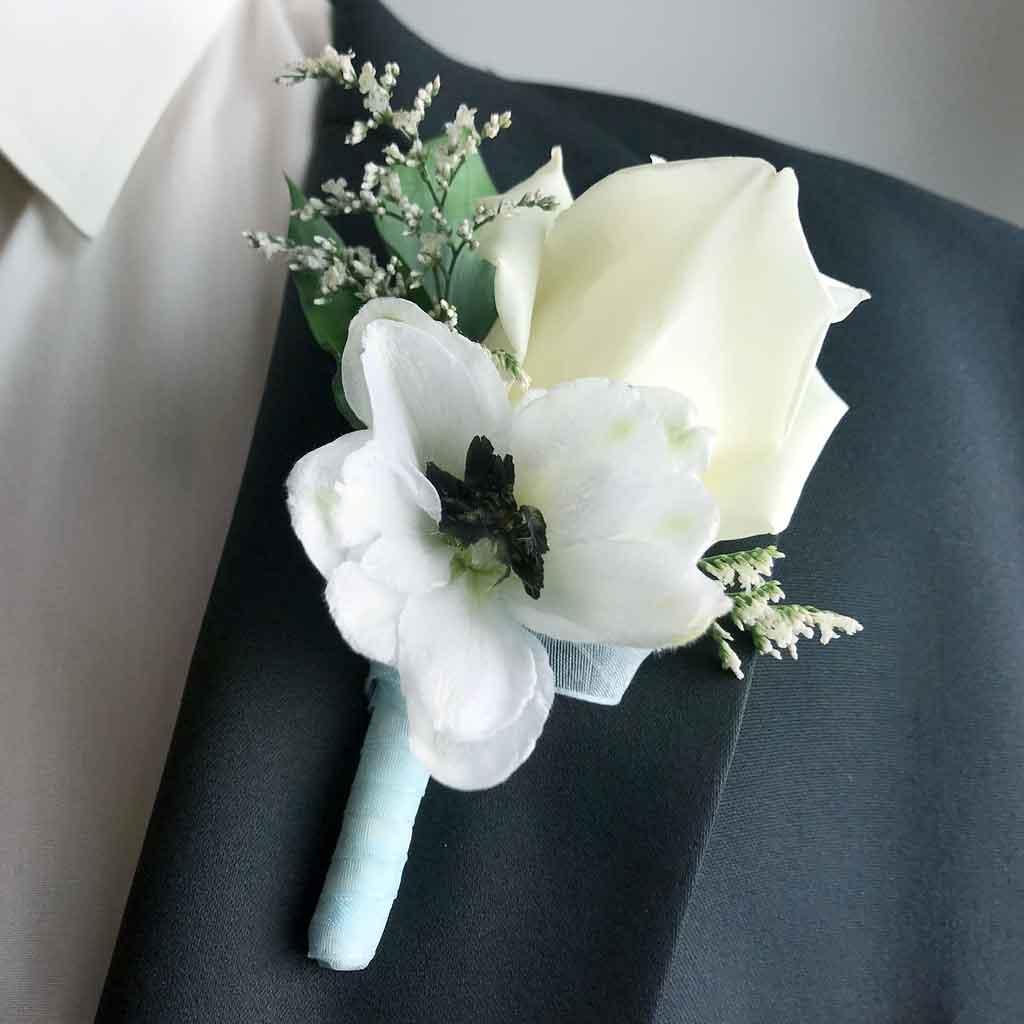 Elegant White Boutonniere