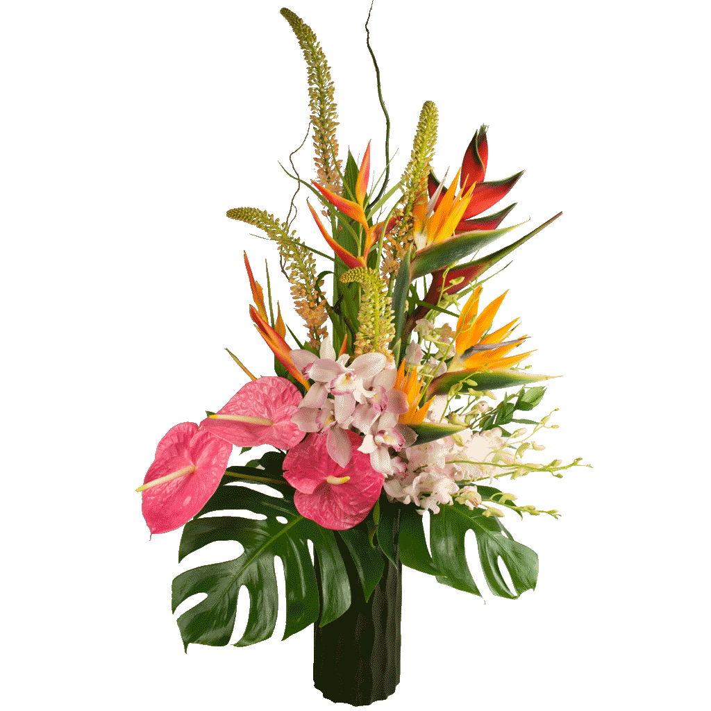 Hawaiian luau bouquet designed by award winning karins florist hawaiian luau bouquet izmirmasajfo