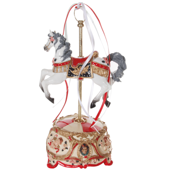 Carousel-horse-music-box