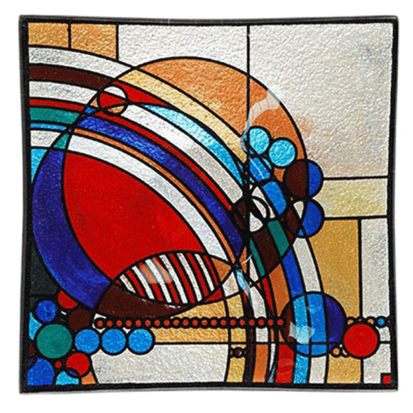 Square Art Glass Plate